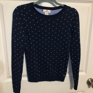 Vineyard Vines Blue Fitted Crew Neck Sweater